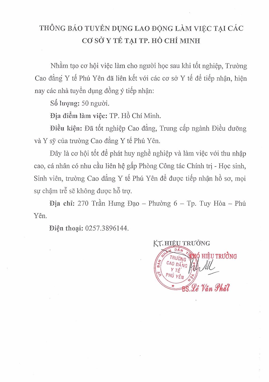 THONG BAO TUYEN DUNG LAO DONG TP HCM